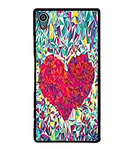 Fuson Premium 2D Back Case Cover Designed Heart With Pink Background Degined For Sony Xperia Z5 Compact::Sony Xperia Z5 Mini