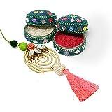 Swirl Lumba Rakhi-RAKHIGIFTS112560, Lumba 1, Boxes of Roli n Chawal 2, raksha bandhan gifts, rakhi special gifts, Special Raksha Bandhan Gift Pack