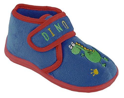 Enfants-Tout-petits-Garons-Pantoufles-avec-Fermeture-Crochet-et-Boucle-Dinosaure-ou-Crocodile