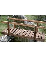 Watsons Pont de jardin en arc Finition bois brûlé 150 cm