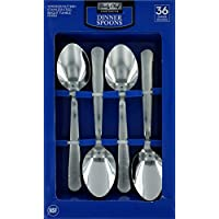 36-Pack Daily Chef Stainless Steel Dinner Spoons