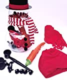 Winter Holiday Deluxe Snowman Making Building Kit - Red Theme
