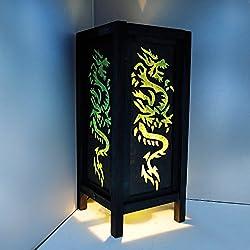 GaiaShine Japanese Dragon Table Floor Desk Lamp Home Patio Lighting Decor US