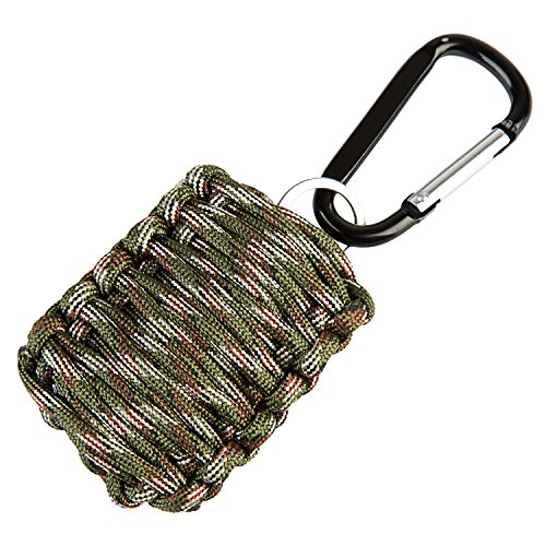 Better line® Army Survival Grenade Paracord Kit with 8 Tools + Fire Starter & Eye Knife LIFETIME WARRANTY
