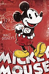 Mickey Mouse - Retro Red 24x36 Poster Art Print Disney