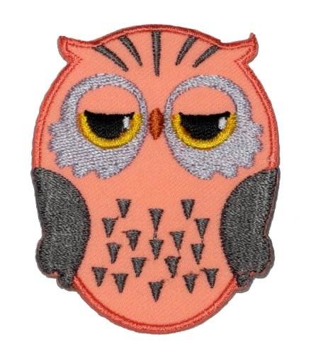 Cute Owl Cartoon Diy Embroidered Sew Iron On Patch Ow-003