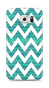 Amez designer printed 3d premium high quality back case cover for Samsung Galaxy S6 (zig zag pattern)