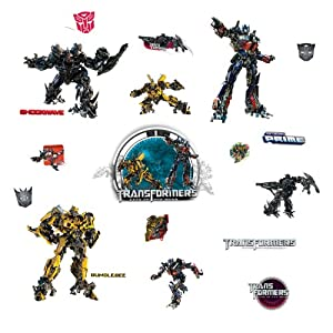 RoomMates RMK1091SCS Transformers 3 Peel and Stick Wall Decals