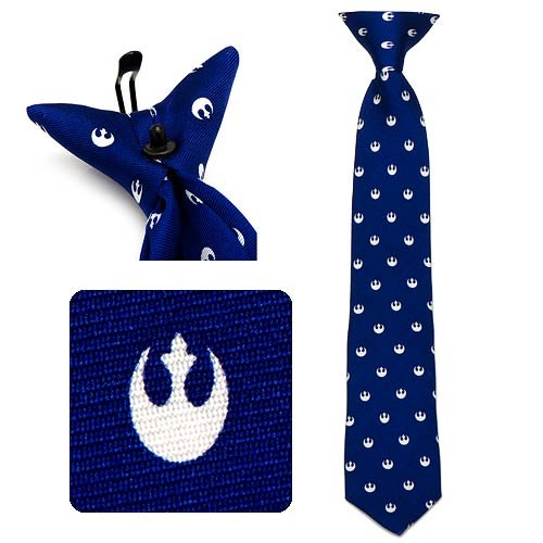 Star Wars Boys Silk Neck Tie (Rebel Alliance - Navy Blue)