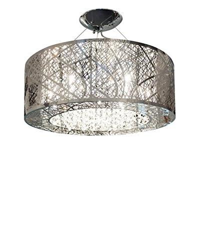 Finesse Décor Forest of Lights Petit Circle 9-Light Pendant, Chrome