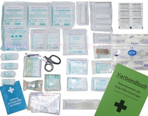 Komplett-Set-Erste-Hilfe-DIN-13157-EN-13-157-PLUS-1-fr-Betriebe-mit-Notfallbeatmungshilfe-Verbandbuch-Stand-2016-inclAlkoholtupfer-Pinzette