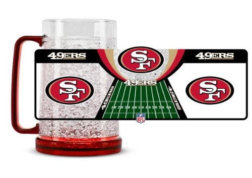 San Francisco 49ers 16oz Crystal Freezer Mug at Amazon.com
