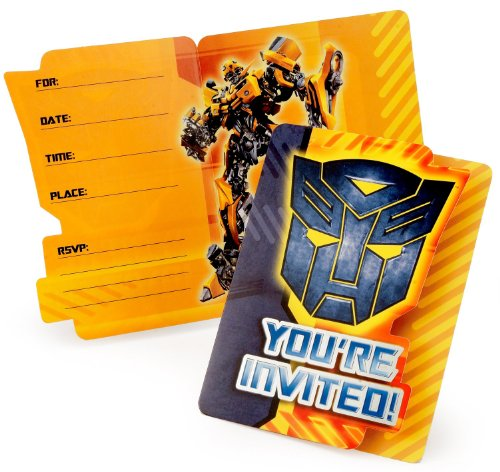 Transformers Revenge of the Fallen Invitations (8 count)