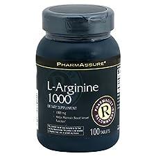PharmAssure L-Arginine, 1000 mg, Tablets, 100 tablets