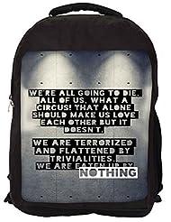 Snoogg Eaten Up By Nothing Backpack Rucksack School Travel Unisex Casual Canvas Bag Bookbag Satchel