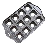 Tosnail-12-Cavity-Mini-Cheesecake-Pan-Cupcake-Pan-with-Removable-Bottom-Square
