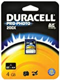 Duracell Class 10.200x ProPhoto SDHC Memory Card - 4 GB