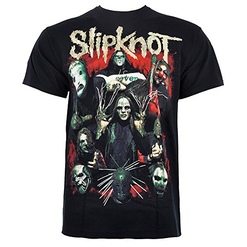 T Shirt Come Play Dying Print Slipknot - Large