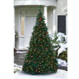 Pre-Lit Pull-Up Christmas Tree, Clear
