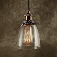 Modern Vintage Industrial Metal Bronze Glass Ceiling Lamp Shade Pendant Light 2015 Edition by LOMT