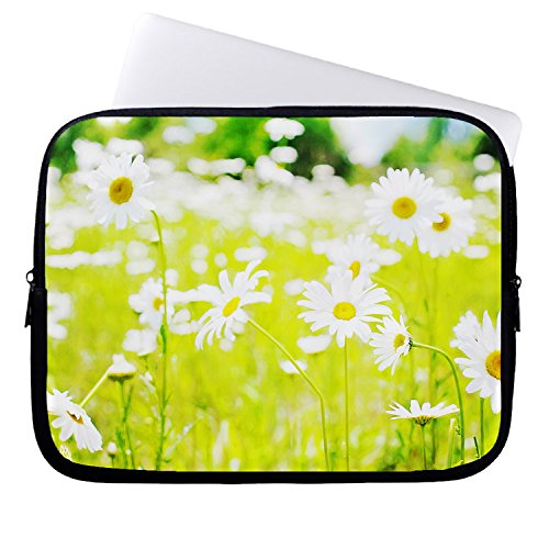 hugpillows-laptop-sleeve-bag-daisies-field-spring-notebook-sleeve-cases-with-zipper-for-macbook-air-