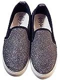 (フルールドリス)Fluer de lis スニーカー スリッポン シューズ 靴 スリッポン シルバー ラメ キラキラ ブラック アパレル レディース ファッション 婦人靴 ft479-k1-4140s36