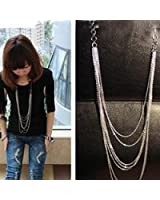 Kgljean Fashion Long Sweater Necklace Chain For Woman