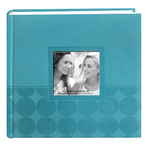Pioneer Embossed 2-Up Photo Album 4″X6″ 200 Pockets-Aqua Circles