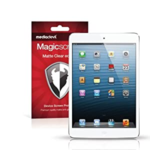 MediaDevil Magicscreen Screen Protector: Matte Clear (Anti-Glare) - Apple iPad Mini 1, 2 & 3 (2012, 2013, 2014) - (2 x Screen Protectors)