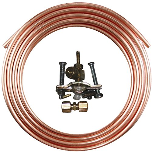 """Ice Maker Hook-Up Kits (15 Feet Kit) *** Product Description: Ice Maker Hook-Up Kits (15Ft Kit)The 15Ft Ice Maker Hook-Up Kit Includes A Roll Of Copper Tubing, Self-Piercing Saddle Valve, 1/4"""" Compression Union And 1/4"""" Compression X 1/4"""" Flare A *** front-552523"""