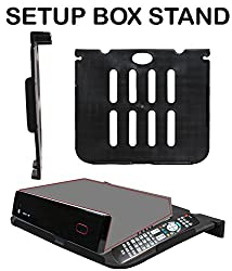 Wall Mount Set Top Box Stand Compatible For Tata Sky HD Set Top Box-BLACK