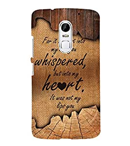 Love Quote 3D Hard Polycarbonate Designer Back Case Cover for Lenovo Vibe X3