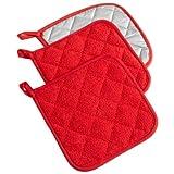 DII 100% Cotton, Machine Washable, Heat Resistant, Everyday Kitchen Basic, Terry Potholder, 7 x 7