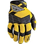 Fly Racing F-16 Youth Boys Motocross/Off-Road/Dirt Bike Motorcycle Gloves - Yellow/Black / Size 3