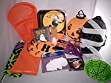 Halloween Decorations Props : Halloween Party Supplies Decor - Masks Lantern 2 Table covers Paper plates Napkins Coffin candy dish Bat clip Warning tape Ghost button Tealight Spooky shapes! &more!