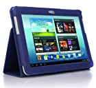 SupCase Slim Fit Folio Leather Tablet Case Cover for Samsung Galaxy Note 10.1-Inch N8000, Sapphire Blue (S8000-62A-SB)