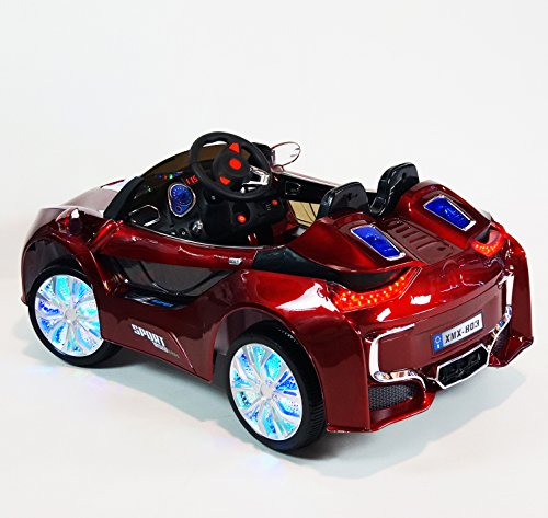 Bmw I8 Style Premium 12 Volt Mp3 Electric Battery Powered Ride On Kids Boys Girls Toy Car Rc Parental Remote Led Lights Music Real Paint Red