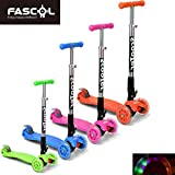 FASCOL� Twist & Roll Patinete plegable para ni�os con 3 ruedas,mini micro patinetes freestyle scooter in Naranja