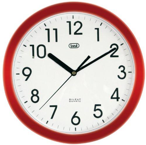 Trevi OM3301 Orologio da Parete - Quarzo silenzioso - 25cm - Rosso