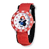 Disney Kids Brave Red Velcro Band Time Teacher Watch