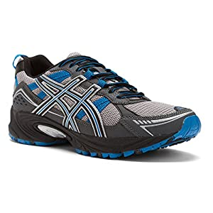 ASICS Men's GEL-Venture 4 Running Shoe,Charcoal/Carbon/Blue,11.5 4E US