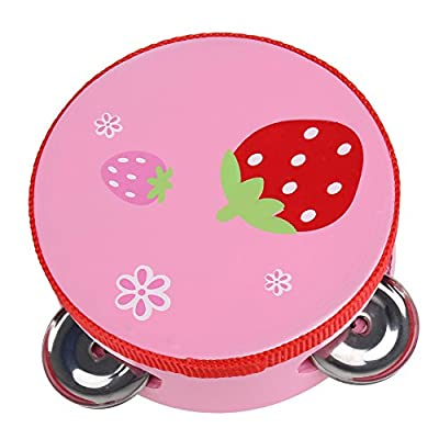 Muti-Color Baby Child Kid Handbell Clap Drum Tambourine Rattles Toy Musical Instrument Exercise Arm 10CM Dia