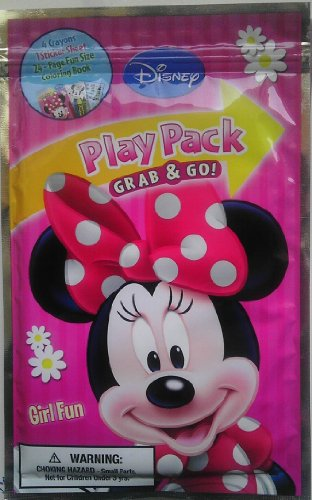 "Disneys Minnie Mouse ""Girl Fun"" Play Pack Grab & Go Fun Pack (Includes Stickers, Crayons & Fun Sized Coloring Book) - 1"