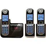 【並行輸入】子機2台付モトローラMotorola DECT 6.0 Cordless Phone with 3 Handsets, Digital Answering System and CustomizableP1003留守番電話付