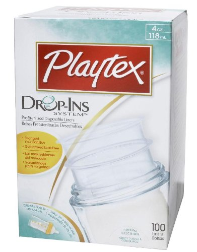 Playtex Drop-In Disposable Bottle Liners - 4 Oz - 100 Count --