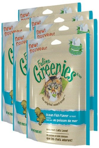 6-PACK Greenies Felines - OCEAN FISH (1.2 lbs)
