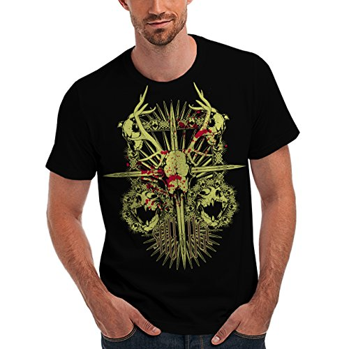 Wellcoda | Savage Monster Death Demon Skull Mens NEW T-Shirt Black S-5XL