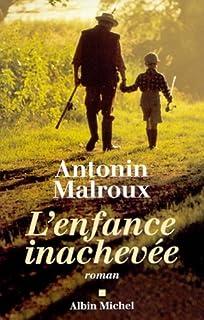 L'enfance inachevée  : roman, Malroux, Antonin