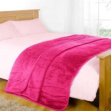 Rose xxl mink mink couverture de luxe fausse fourrure - Plaid fausse fourrure rose ...
