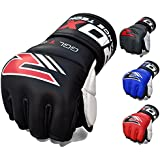Authentic RDX Cow Hide Leather Gel Tech MMA 7oz Grappling Gloves Fight Boxing UFC Punch Bag